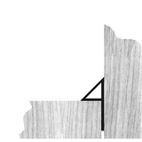 Trojhranná lišta s limcom 10/15/24 mm