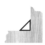 Trojhranná lišta 10/15 mm