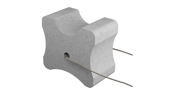 Betónová podložka s drôtom 20-25-30 mm
