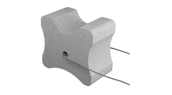 Betónová podložka s drôtom 45-55-60 mm